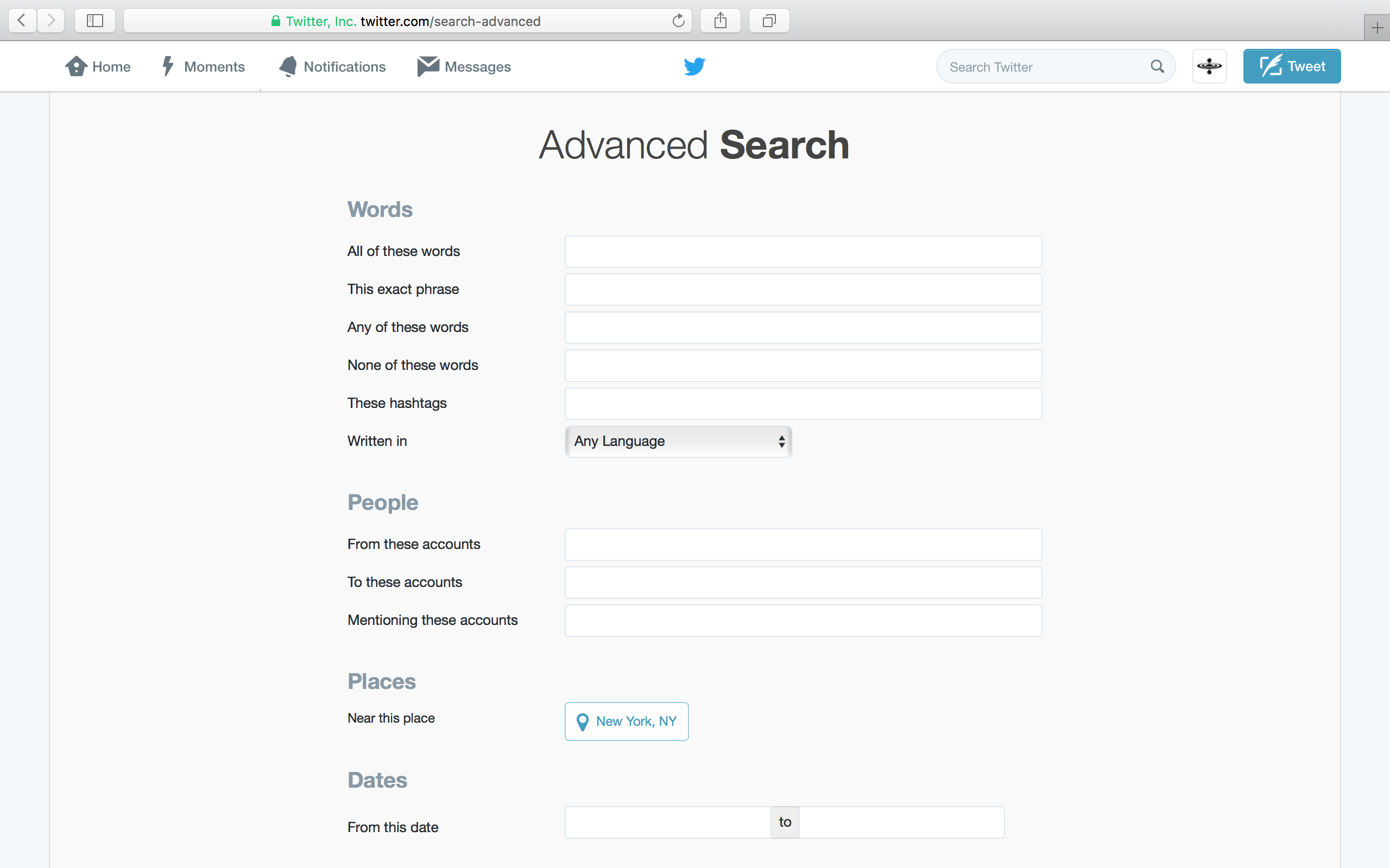Advanced Search Fields